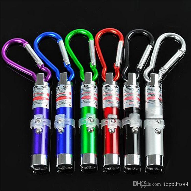 레이저 포인터 교육 펜 자외선 토치 미니 3IN1 레드 LED 손전등 슈퍼 밝은 핸디 키 체인