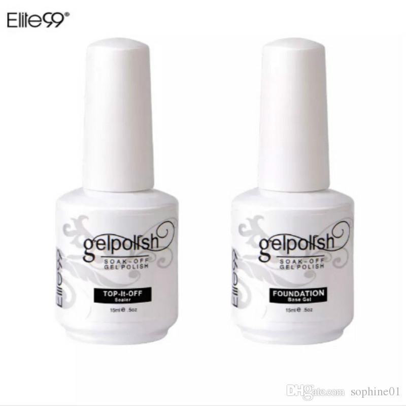 Elite99 15 ml Nail Art Decorações Gel Nail Polish Foundation para Art Beauty LED Lâmpada Necessária Top E Base Coat UV Gel Nail