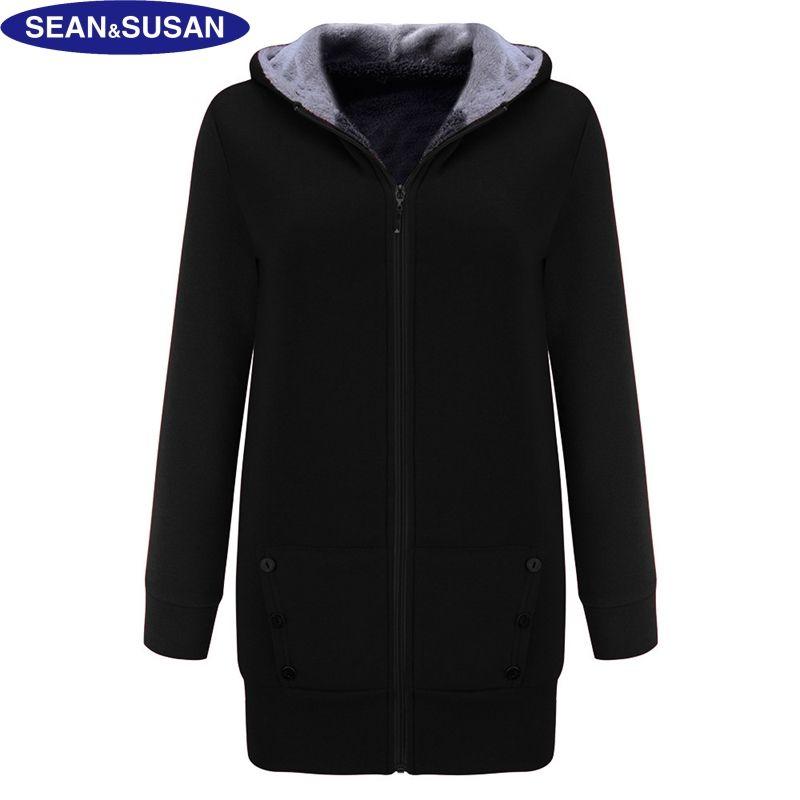 Оптовые - Seansusan бархат с капюшоном длиной пальто с капюшоном с капюшоном с капюшоном.