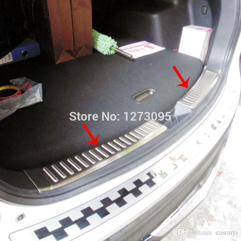 2015 마즈다 CX5 CX 5 CX5 스테인레스 스틸 인테리어 후면 범퍼 프로텍터 창턱 트렁크 트림 내부 스커프 플레이트 자동차 액세서리