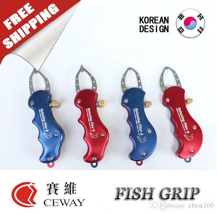 Fish Lip Grip Fishing Gripper Grasper Unhook Plier Pincer Clip Catcher Holder Controller Fishing Tackles Spinning Plier 2017 FREE SHIPPING