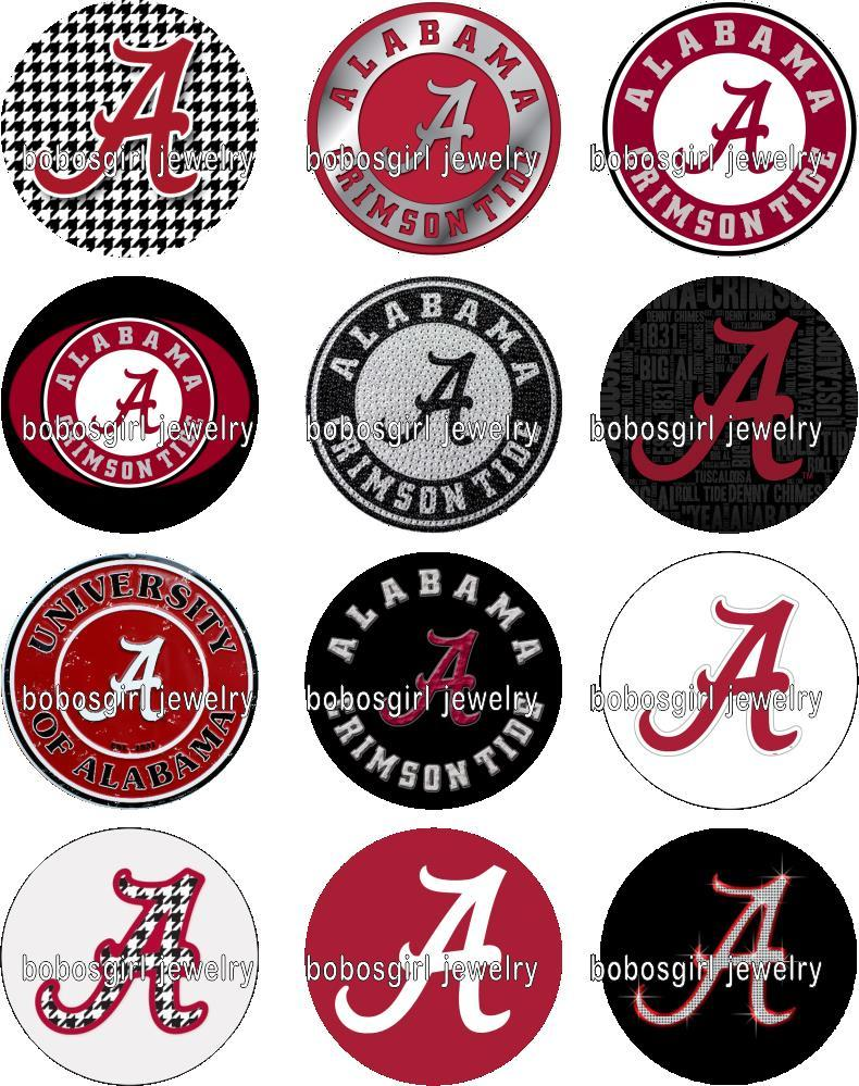 Free shipping ALABAMA Sport FOOTBALL glass Snap button Jewelry Charm Popper for Snap Jewelry good quality 12pcs / lot Gl343 jewelry making