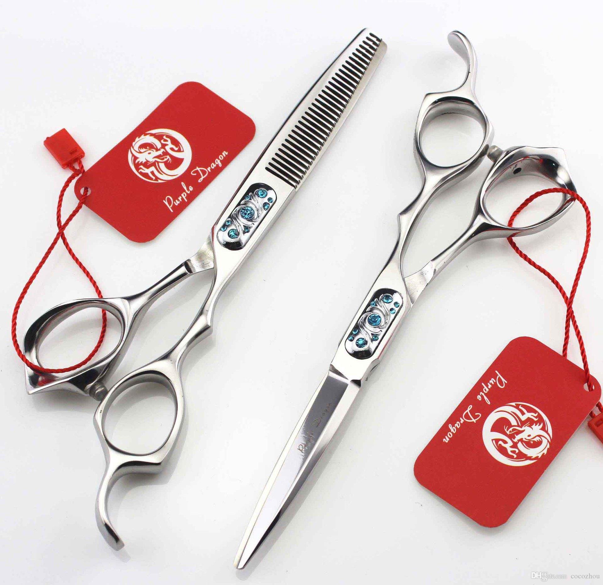 552 # 6 '' Marke Lila Dragon TOP GRADE Friseurscheren 440C 62HRC Friseurschere Effilierschere Haarschere