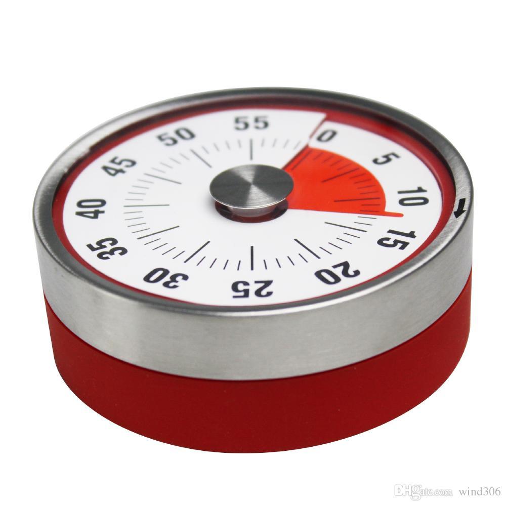 Baldr 8cm Mini Mechanical Countdown Küche Werkzeug-Edelstahl-runde Form Kochzeit Wecker Magnetic Timer Erinnerung