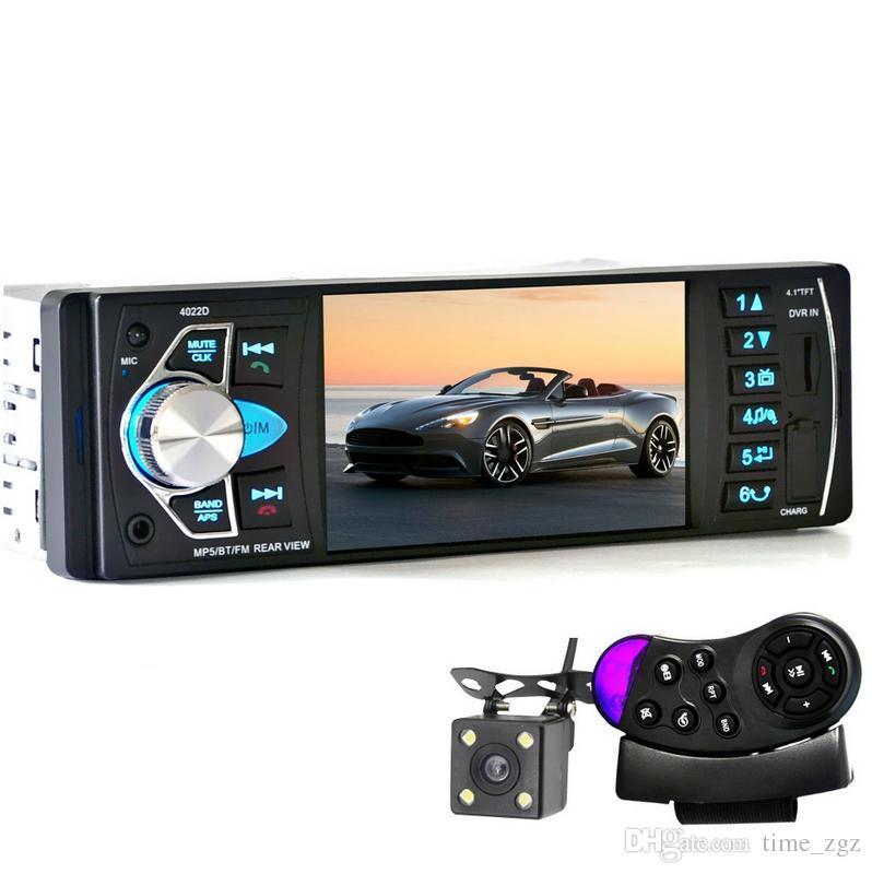 5PCS 4022D 4.1'' Car MP5 Player Bluetooth TFT Screen Stereo Audio FM Station Auto Video with Remote Control Equipped Rearview Came