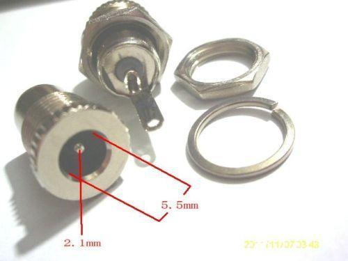8шт медь 5.5 мм 2.1 мм женский DC разъем разъем питания разъем адаптера