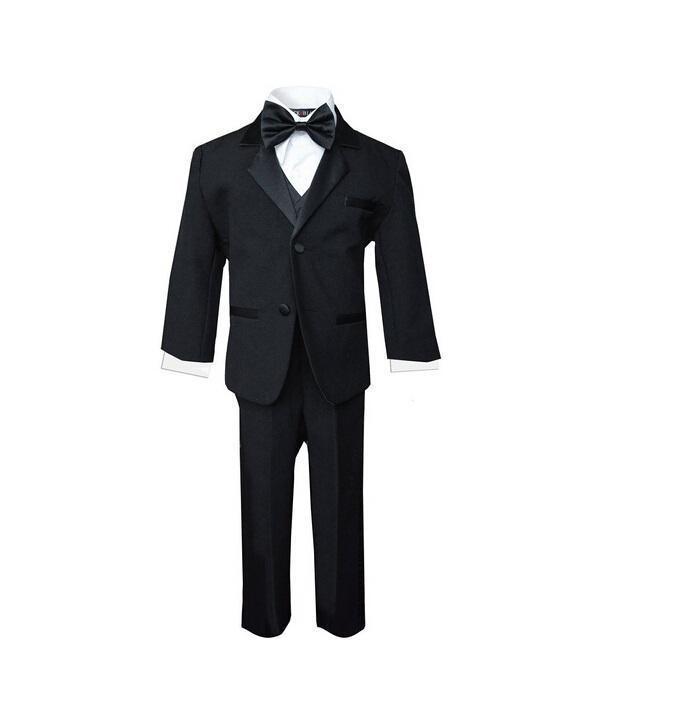 Ragazzi occasione matrimonio abiti smoking moda contratto colore puro ragazzi adatta smoking tute tre pezzi ragazzi (giacca + pantaloni + vest + bowtie)