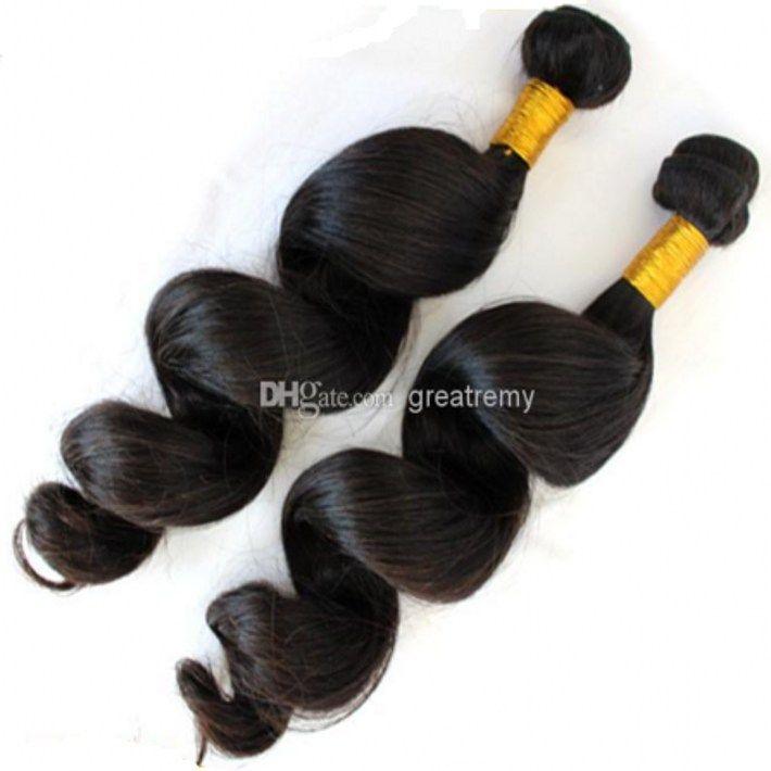 European Virgin Hair Weft Bella Hair Products 2pcs / Lot Remy Human Hair Weft Loose Wave Greatemy Drop Shipping Naturlig färgfärgbar