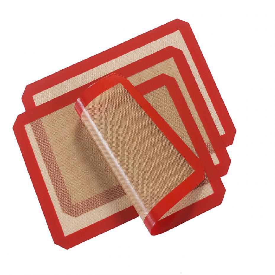 3 قطعة / الوحدة 40x30 سنتيمتر نونستيك سيليكون الخبز حصيرة مقاومة للحرارة الألياف الزجاجية العجين المتداول ورقة الوسادة ل كعكة كوكي أدوات المطبخ