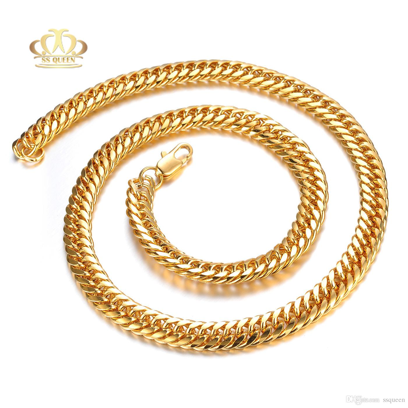 2020 2016 Trendy Gold Chain For Men Jewelry 3 Layers 18k Real Gold Plated Snake Necklace Chain From Ssqueen 10 77 Dhgate Com