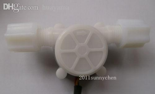 "Wholesale-10 pcsG1/4"" 0.3-3L/min Water Coffee Flow Hall Sensor Switch Meter Flowmeter Counter"