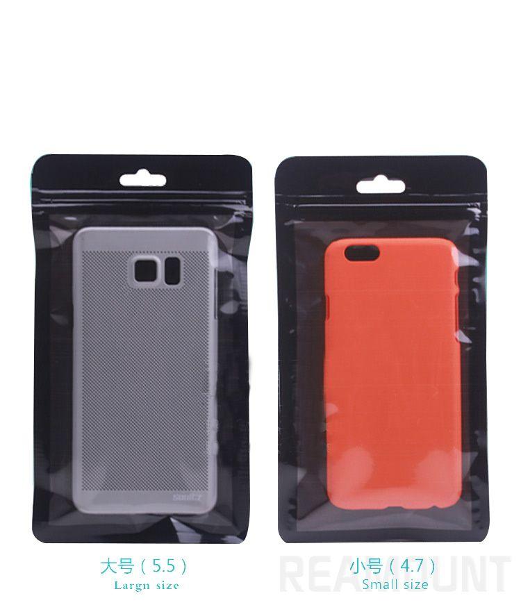 Großhandel DIY Custom Packaging Bag für Telefonkasten für iPhone 7 7 Plus Kunststoff-PVC-Paket Verpackung mit Hange Loch
