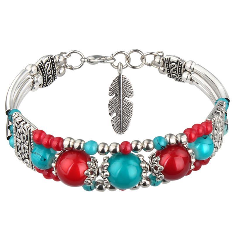 Chinesische nationale Art, retro Bohemia Armband, farbige Süßigkeiten Mädchen, Armbänder, Armbänder Großhandel Hersteller