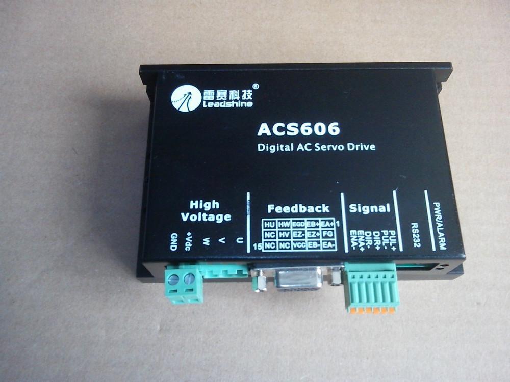 Atacado 3 pcs muito Leadshine AC servo drives ACS606 trabalho 24-60 VDC Out 0A to18A Fit BLM57180-1000 servo motor Brushless