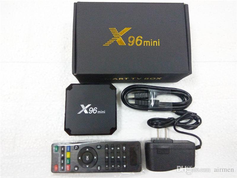 New X96 Mini TV BOX Quad Core Amlogic S905W Smart Box 1GB 8GB Android 7.1 Loaded Media Player Cheaper than X96