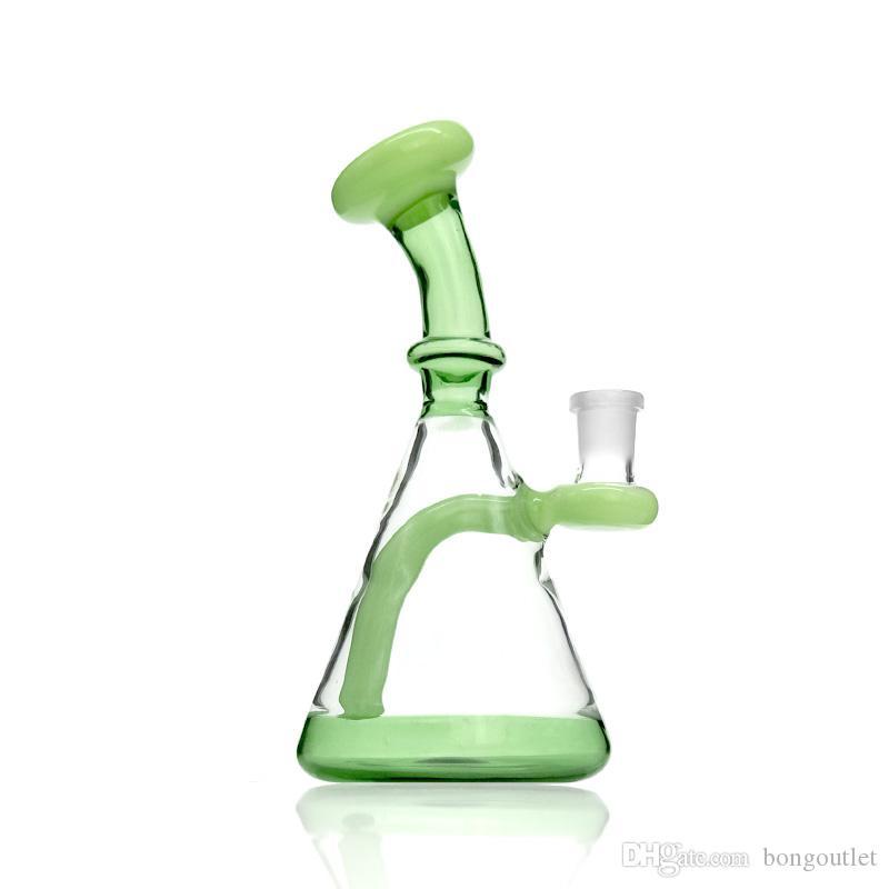 5mm dicke sniftah bongs dreieck trichterform glasware wasser rauchen rohr öl rig