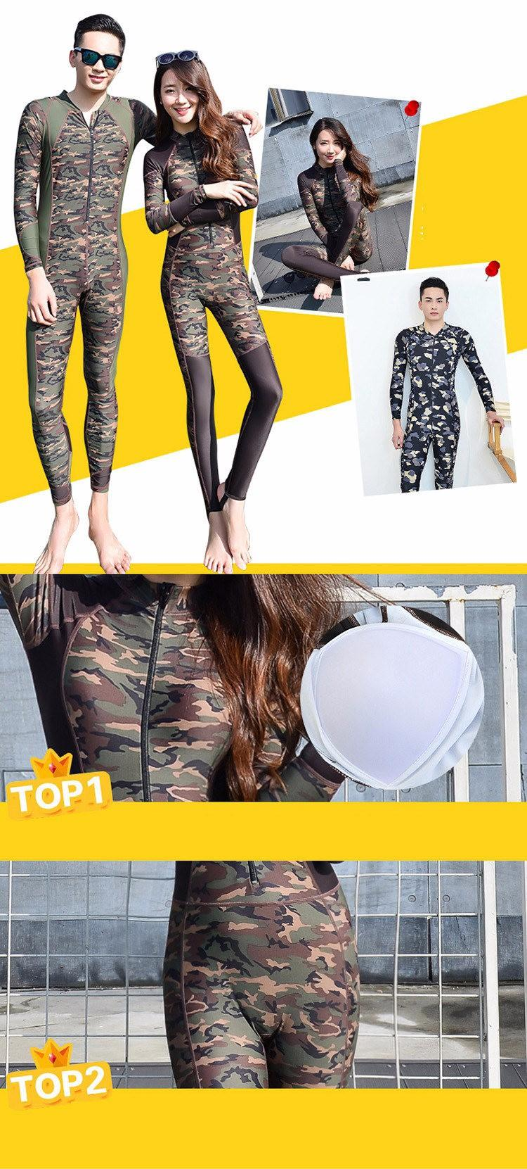 2019 Hot Sale 2016 Fashion Lovers Camouflage Wetsuit Surfing Diving ... 2884ec6b2