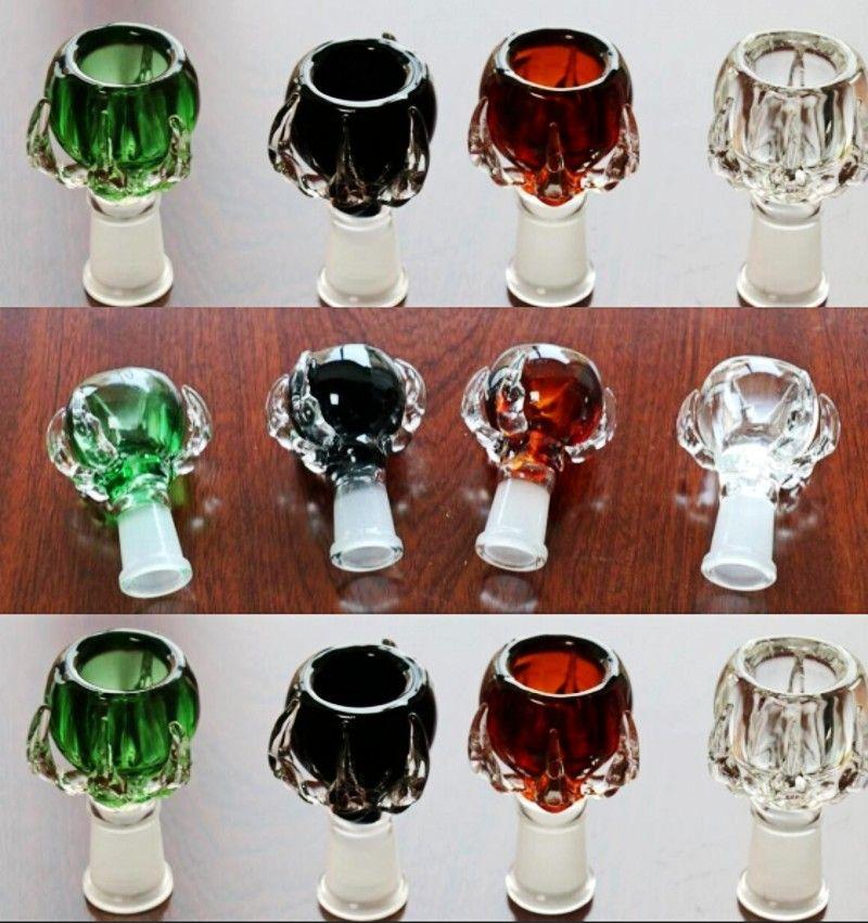 bols en verre coloré couleurs disponibles Heady dans un bol de fumer ctock pour les conduites d'eau de bangs en verre bol femme 14,4 / 18.8mm Accessoires fumeurs