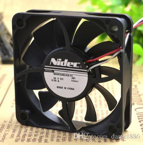 NIDEC M60R24MGAB-53J56 24V 0.08 A 60*60*15 3 линия вентилятор электропитания принтера
