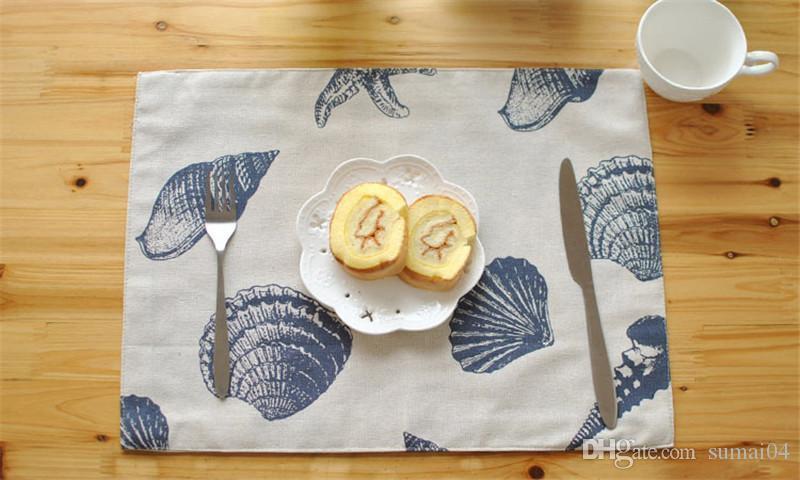 Tabella di alta qualità stuoie da tavola stuoie Mediterraneo Occidentale tovagliette antiscivolo pad panno qualità tovaglietta cucina