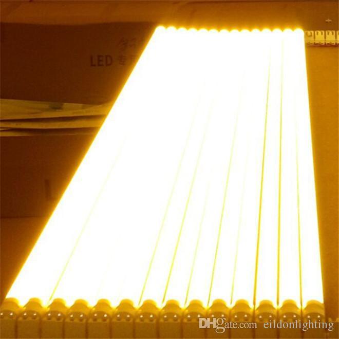 Tubo LED anti UV T8 Luces amarillas de seguridad 5 pies 4 pies 3 pies 2 pies AC85-265V G13 Integrado 2835SMD 1200mm Blub Lamp Sin exposición Protección ultravioleta