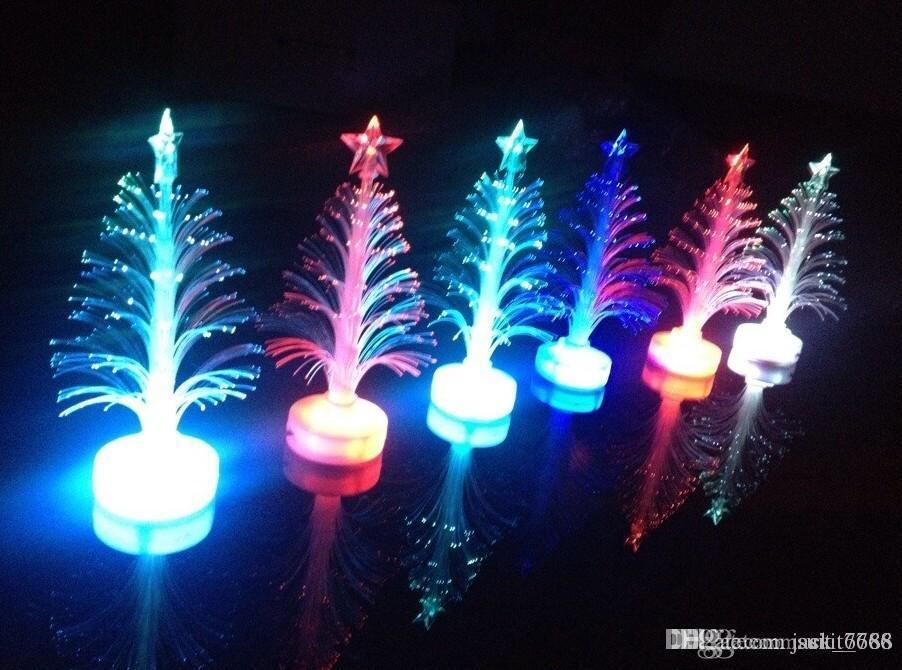 trasporto liberoFiber fibra ottica albero di fibra ottica Albero di Natale colorato led flash giocattoli all'ingrosso fibra tridimensionale luminoso alberi