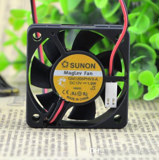 Original SUNON 5015 1.9W GM1205PHVX-A 50 * 50 * 15mm 12V 2-Draht-Server Hydraulikventilator