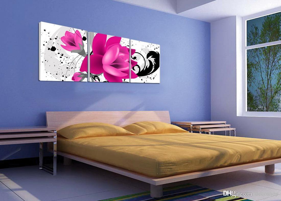 Belas Flores Abstratas Pintura Floral Giclee Impressão Na Lona Home Decor Wall Art Set30115
