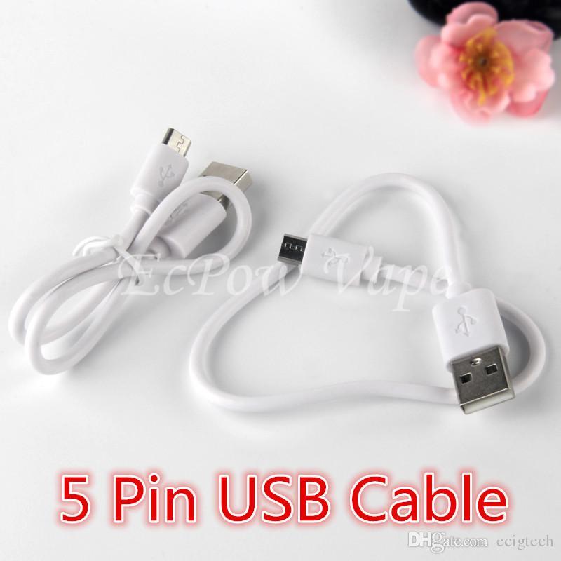 Caricabatteria micro USB Cable Charger ECIG Carica carica USB2.0 Micro caricabatterie 310mm per sigaretta elettronica e caricamento del telefono Android 310mm
