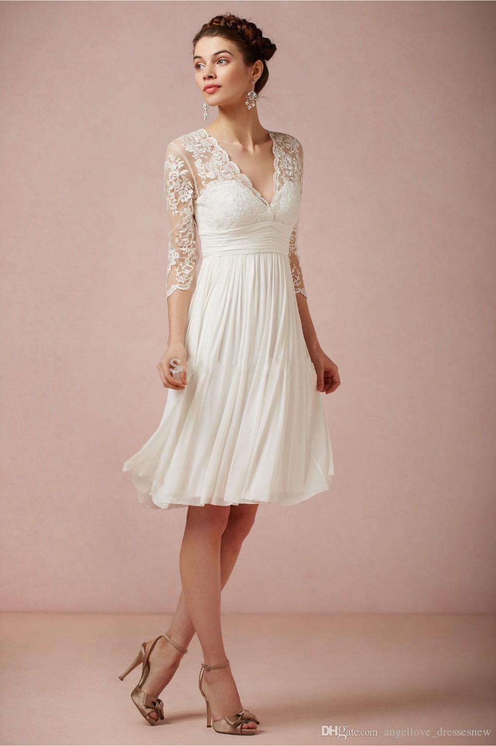 Discount 2016 Bohemian Hippie Style Lace Short Wedding Dress For ...