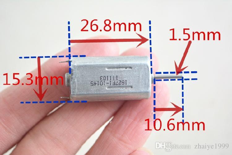 10PCS 050 26.8mm * 15.3mm * 11.8mm 3V-12V 4500-36000RPM 고속 정밀 모터 DC 모터