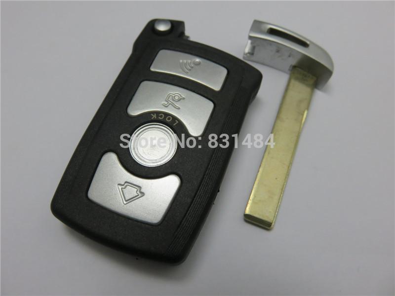 Nueva cubierta plegable de la caja de la llave del shell del tirón del fob del coche de 4 botones plegable para la serie de BMW 7