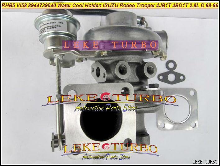 RHB5 VI58 8944739540 Water Cooled Turbine Turbo Turbocharger For ISUZU Trooper 4JB1T PIAZZA 4BD1T 2.8L D 1988-96 97HP