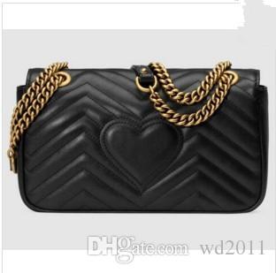 Venda quente de Luxo mulheres saco de Couro Clássico de couro preto cadeia de mulheres sacos de bolsas de ombro bolsas sacolas mensageiro