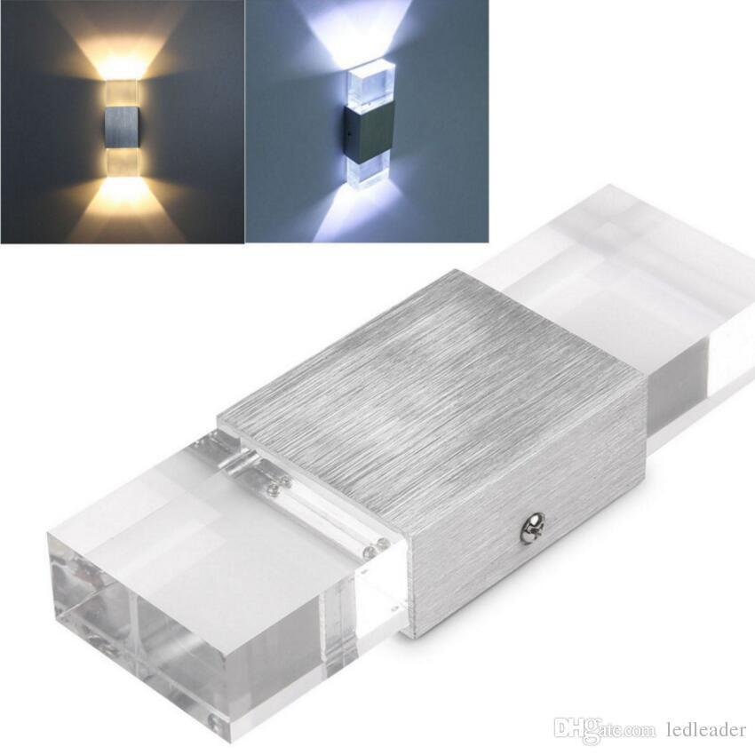 Lampa LED LED LED LED LED LED LED Proste Proste Aluminium LED Ściana Korytarz Balkon Bar KTV Lampa ścienna Drop Shipping