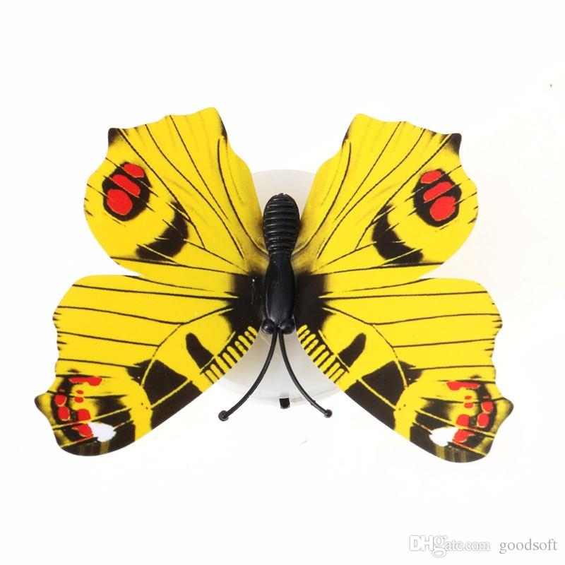 2018 Tv Wall Decoration Butterfly Lovely Creative Color Changing Abs ...
