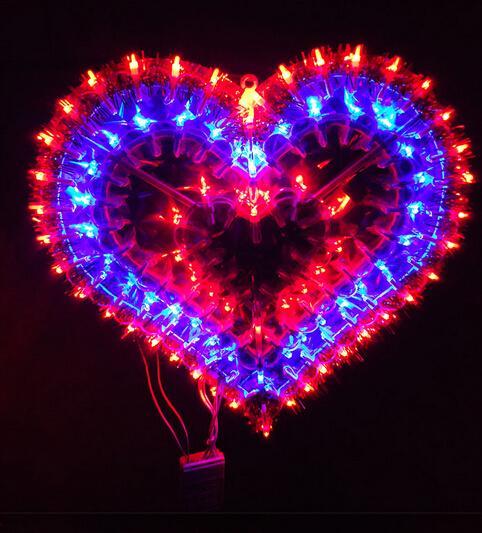 Decoración de la habitación de matrimonio matrimonio linterna regalo de San Valentín decoración de la ventana decorativa luces LED amor confesión
