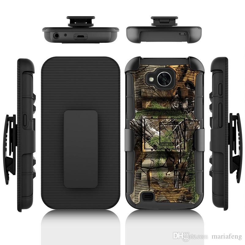 big sale d6ac6 8e6e1 Camouflage Hybird Belt Clip Case For Lg X Venture Calibur Charge Power 2  V30 K20 Plus Armor ShockProof Holster With Kickstand Combo Case Heavy Duty  ...