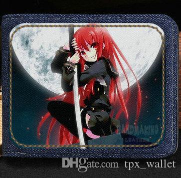 Shakugan нет Шана кошелек убийца мультфильм кошелек аниме короткие денежные ноты дело деньги notecase кожа burse сумка держатели карт