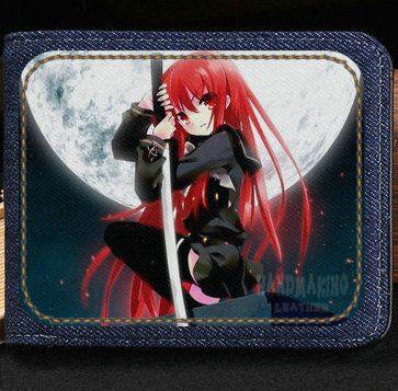 Portafoglio shakugan no shana Portafoglio killer cartoon Cassa di banconote corte di anime Soldi notecase Borsa di burse in pelle Porta carte