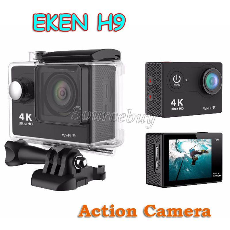 "2"" LCD 170D lens Original EKEN H9 Action camera Ultra HD 4K WiFi 1080P Helmet waterproof Sports camera Free Shipping"