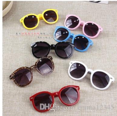 2017 النظارات الشمسية جولة خمر نظارات شمسية الأطفال سهم زجاج الطفل بنين بنات صيف أطفال نظارات Oculos دي سول Gafas