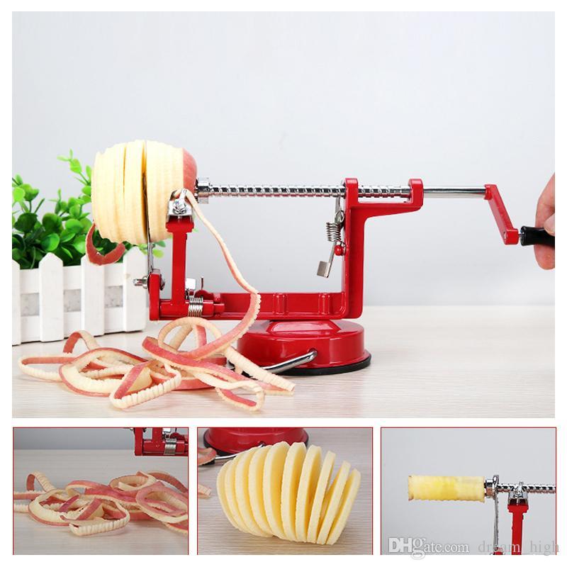 3 em 1 maçã peeler apple zester máquina de frutas de aço inoxidável ferramenta descascada criativo cozinha de casa de batata slicer cortador bar