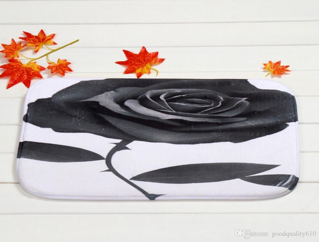 40 * 60cm fiore della Rosa del bagno tappeti antiscivolo Tappeti corallo del panno morbido tappeto per Per Bagno Camera Zerbino online