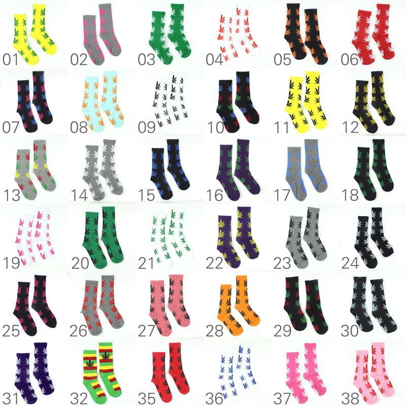 38 ألوان عيد الميلاد بلانور الجوارب للرجال النساء جودة عالية القطن جورب سكيت الهيب هوب القيقب ورقة الرياضة الجوارب بالجملة مجانا dhl فيديكس