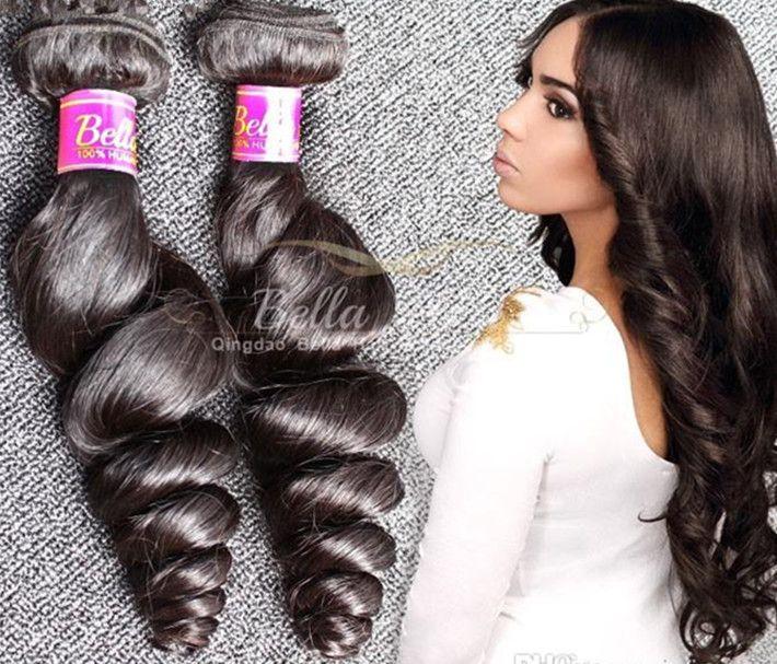 الصف 9A 100 ٪ غير المجهزة الماليزية الشعر حزم 2 قطعة / الوحدة اللون الطبيعي فضفاض موجة الشعر التمديد الإنسان شحن مجاني