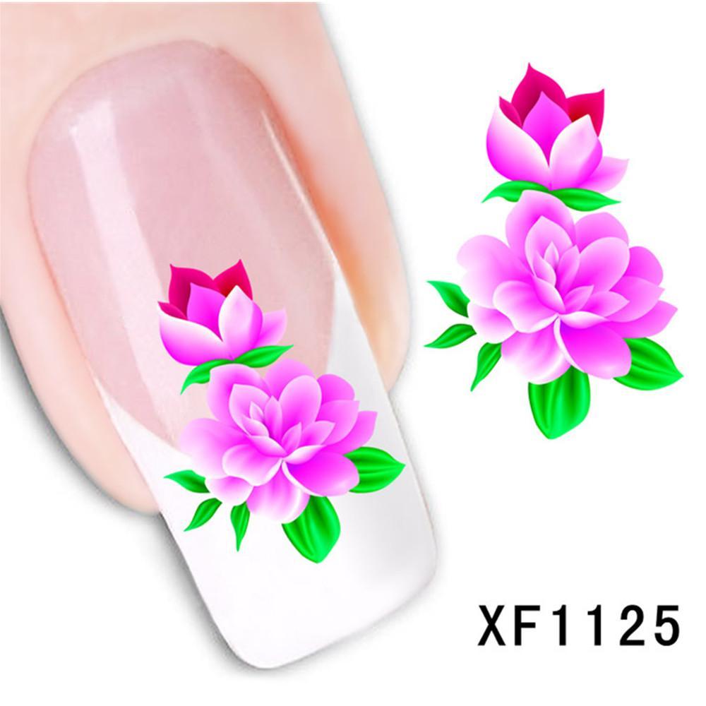 Новая мода Женская моделирование цветок ногтей наклейки высокое качество водяной знак ногтей Stick женская красота инструменты Бесплатная доставка