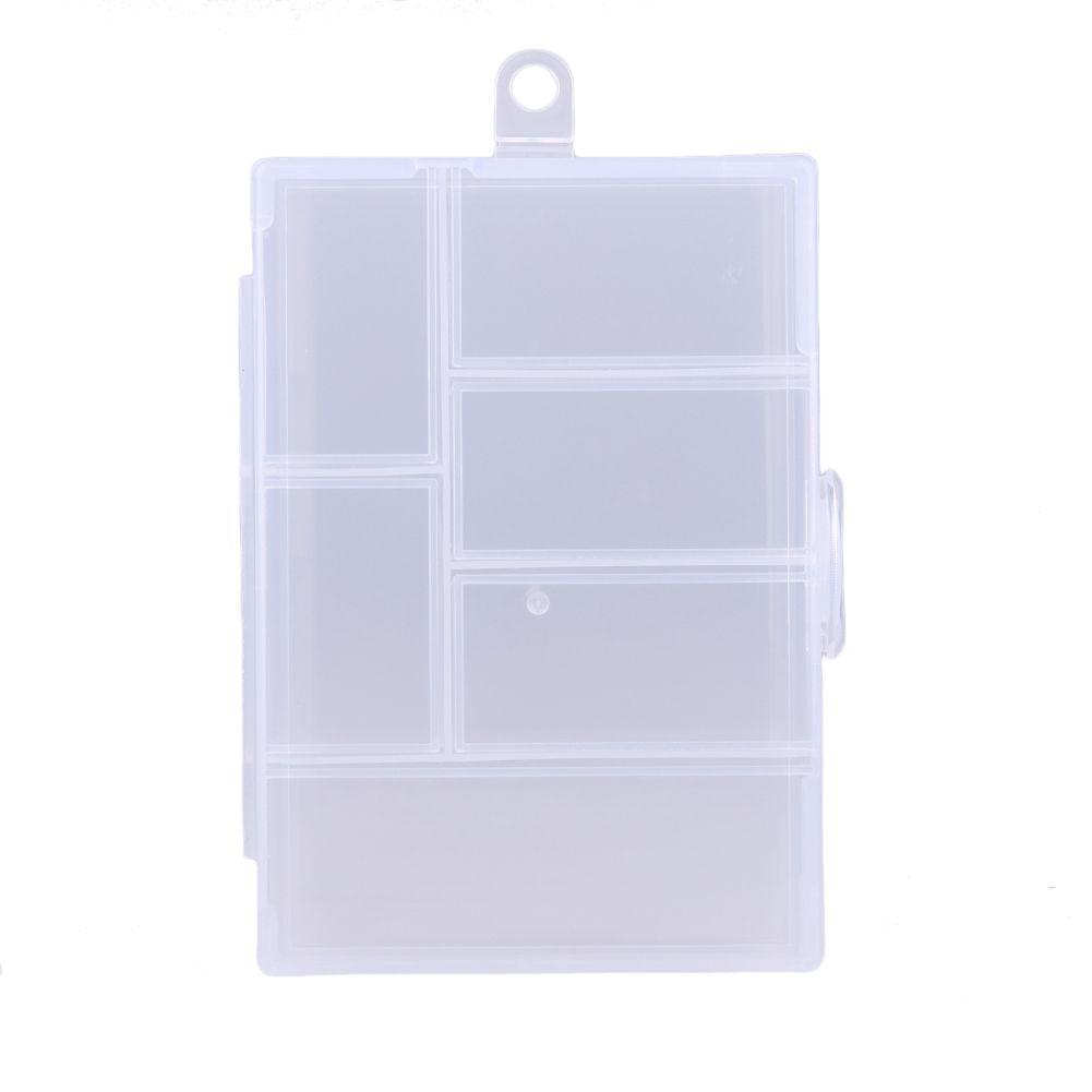 Fischerei Tackle Boxen Fixierbar 6 Fachkunststoff Aufbewahrungsbox Fallhalter Fischköder Köderhaken Angelschraube Kiste 120l