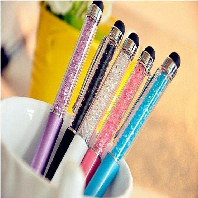 Цвета стилус Кристалл 2 in1 сенсорный экран стилус шариковая ручка для iPhone iPad Samsung Galaxy Tablet PC телефон