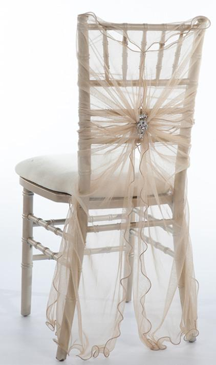 Custom Made 2016 Feminine Tulle Chair Covers Cheap Crystals Chair Sashes Romantic Wedding Decorations Wedding Supplies 55